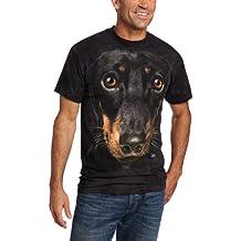 The Mountain Unisex Erwachsen Daschund Face Hund T Shirt