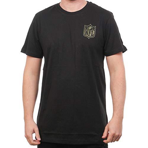 New Era Camo Collection Herren T-Shirt NFL Logo Schwarz, Größe:L