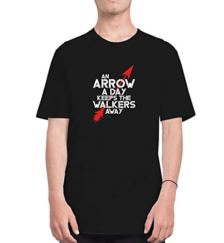 Walking Dead Arrow A Day Keeps Walkers Away Funny Quote_CFS1143 Tshirt T-Shirt Shirt Men Herren Man Für Männer Men's White 2XL