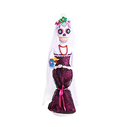 äUtigam Braut Taro Dekoration Schmuck Hexe Requisiten Dekoration Requisiten Dekoration Halloween-BräUtigam-Braut-Schädel-Dekorative Verzierungen ()