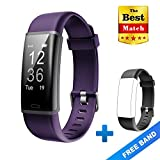 Lintelek Fitness Tracker, Customized Activity GPS Tracker, Purple