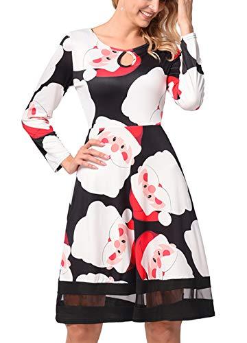 ZAMAC Weihnachten Kleid Damen Kollektion Damen Urlaub Party Abendkleider Teen Girls Kleidung ()