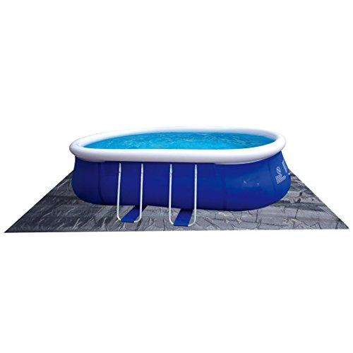 Jilong Pool Bodenplane 634x435 cm Bodenschutzplane Schutzplane Bodenfolie Schutzfolie gegen Poolboden Beschädigung, Unterlage für Pool Schwimmbecken Planschbecken Garten Schwimmbad
