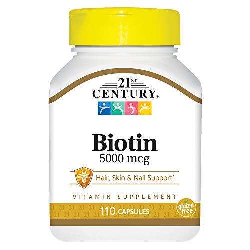 21st Century Health Care, Biotin, 5000 mcg, 110 Capsules -