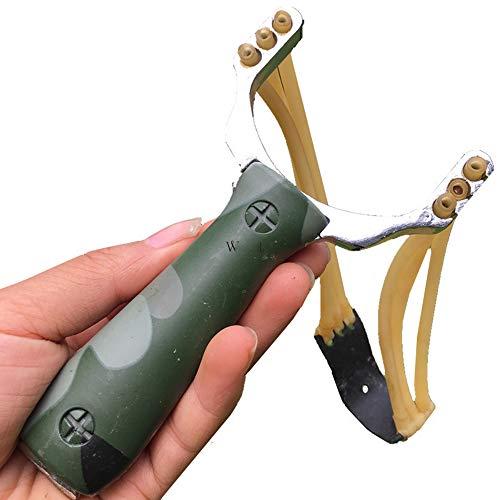 Fliyeong Camouflage-Jagd-Schleuder mit Gummibändern für die Jagd im Freien für Jagdwettbewerbe