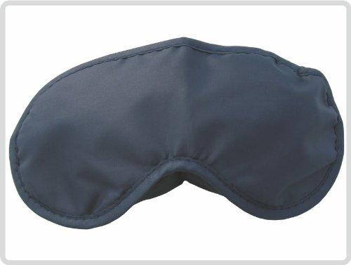 Preisvergleich Produktbild Schlafmaske Schlafbrille Augenbinde Augenmaske aus weichem schwarzen Nylon