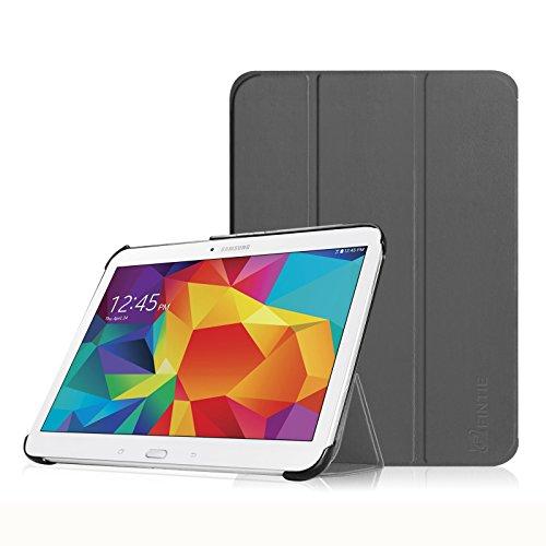 Fintie Hülle für Samsung Galaxy Tab 4 10.1 SM-T530 SM-T535 - Ultra Schlank Superleicht Ständer SlimShell Cover Schutzhülle Etui Tasche mit Auto Schlaf/Wach Funktion, Himmelgrau