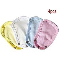 Extensor de traje de mono para bebés y niños, 4 piezas, universal y suave, para extender la vida útil de la ropa