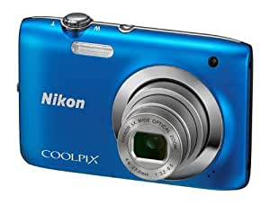 Nikon Coolpix S2600 14MP Point-and-Shoot Digital Camera (Blue) with 4GB Card, Camera Pouch