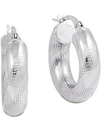 Bella Donna Damen-Creolen 925 Silber