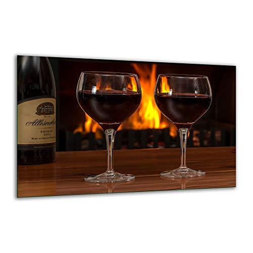Herdabdeckplatte Ceranfeld 1 Teilig 80x52 Wein Dunkel Kochplatten Glas Induktion