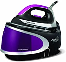Morphy Richards Power Steam Elite 42223 Pressurised Steam Generator, 2 L - Plum