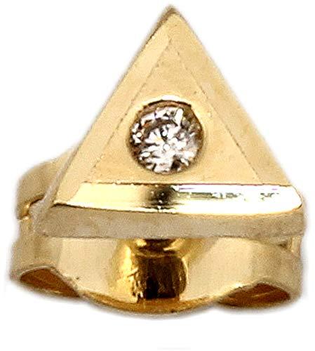 Herrenohrring Gold 585 Brillant 0.01 ct. Stecker Ohrstecker Ohrring für Herren