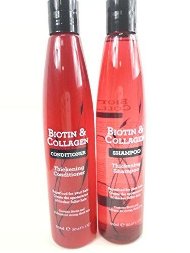 Biotin & Collagen Haarverdichtungs-Shampoo und Conditioner, Set, je 300ml