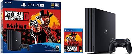 Playstation 4 Pro 2TB SSHD Konsole mit Red Dead Redemption 2 Bundle, 4K HDR, Playstation Pro mit Solid State Hybrid Drive