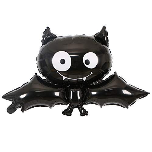 nowbetter Halloween Aluminium Folie Ballons Fledermaus Vampir Form Dekorationen Supplies für Halloween Masquerade Thema Party für Kinder Jungen Mädchen Schwarz