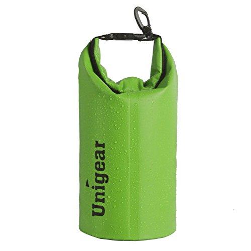 Unigear Dry Bag, wasserdicht Taschen mit Handy Dry Tasche für Boot und Kajak,, Angeln, Rafting, Schwimmen, Camping und Snowboarden,2L,Gruen (Zubehör Kajak-angeln)