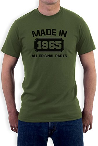 Made In 1965 All Original Parts 50th Birthday Gift Nostalgic Retro Year Regular Fit Men's T-Shirt Beige