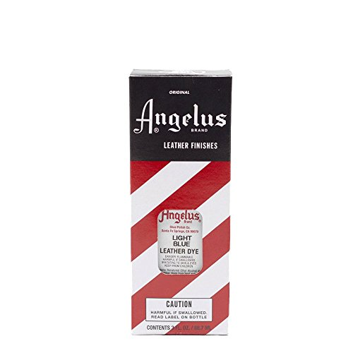 Angelus Leather Leder Dye geeignet für Glattleder Leder färben Lederfarbe 88 ml (Hellblau)