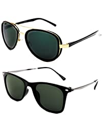 TheWhoop Combo UV Protected New Style Aviator Goggles & Wayfarer Sunglasses For Men , Women , Girls , Boys