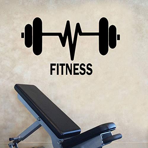 57X33cm Gewichtheben Barbells Fitness Gymnasium Gym Sport Vinyl Wandaufkleber Aufkleber Startseite
