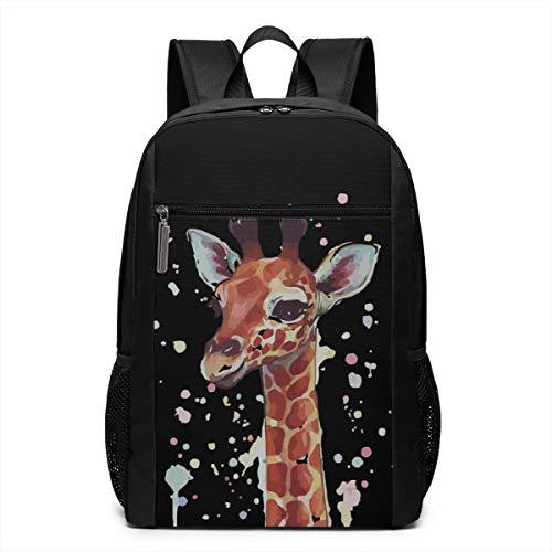 GgDupp Cute Giraffe School Bag Travel Backpack 17 Inch Laptop Bag