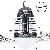 MojiDecor Zanzara Killer Elettronica & Lampada Campeggio 2 in 1 Antizanzare Portatile Elettrico Impermeabile UV LED Lanterna Ricaricabile Insetticida Zanzara Trappola per Giardino Campeggio Esterno