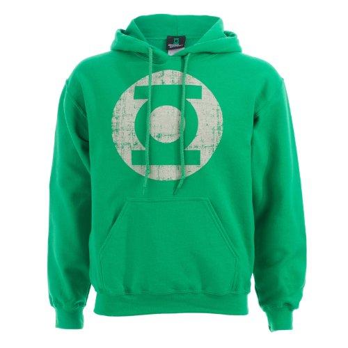 Green Lantern Distressed Logo Kapuzenpullover, grün, Grösse XXL -