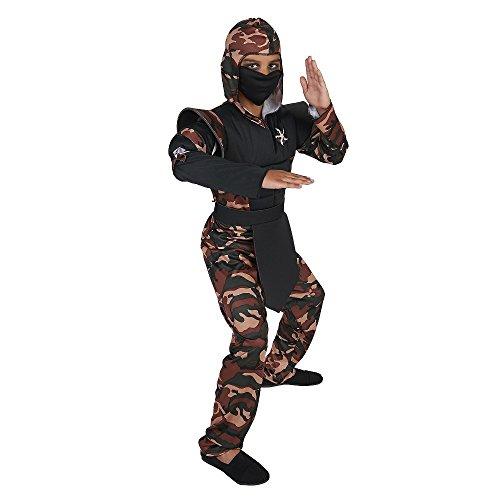 Dream Weavers Camouflage Ninja Kinder Jungen Fasching Halloween Karneval Kostüm (104-116)