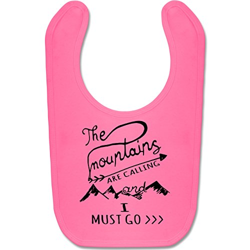 Up to Date Baby - The Mountains are calling - Unisize - Pink - BZ12 - Baby Lätzchen Baumwolle