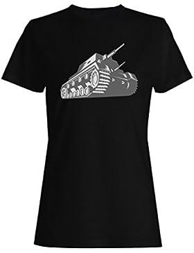 Regalo retro de la vendimia del tanque de ejército camiseta de las mujeres f779f