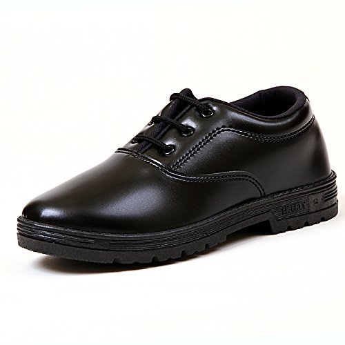 Liberty School Boy Black Lace Up Shoes