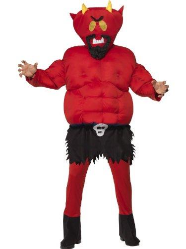 Original Lizenz Satan aus South Park Satankostüm Teufelkostüm Halloweenkostüm Teufel Kostüm für Halloween Gr. M / 48 - 50 (South Park Halloween Kostüm)