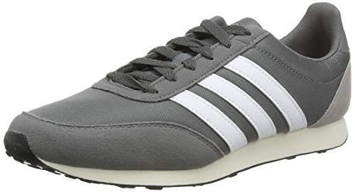 adidas V Racer 2.0, Herren Laufschuhe, Grau (Grey Four F17/Ftwr White/Light Granite Grey Four F17/Ftwr White/Light Granite), 43 1/3 EU (9 UK)