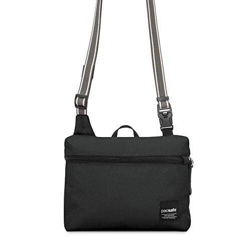 Pacsafe Slingsafe LX50antifurto mini borsa a tracolla, tweed grigio, Chili (rosso) - 688334026073 Black