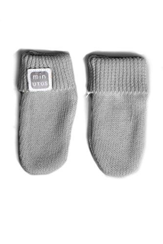 Manoplas antiarañazos de punto 100% algodón para bebé - Minutus (Gris)
