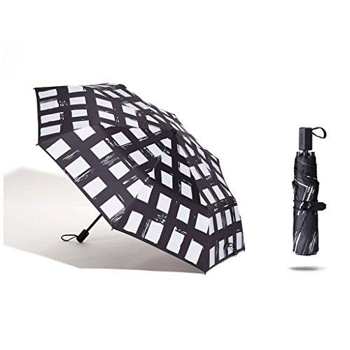 Unbekannt HUXIUPING Sonnenschirm Sonnensegel UV Ultra Light Falten Regen Dual-Use-Männchen...