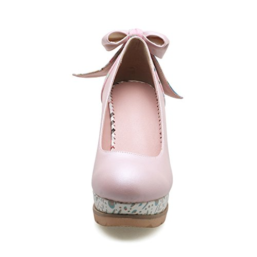 Scarpe Alto Dopo Bordeaux Uh Compensazione Scarpe Con Tacco Elegante Donne Round Semplici Un Farfalla Nodi PRf5AWRyZ