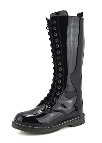 Ladies Long Lace up Creeper Punk Combat Boots