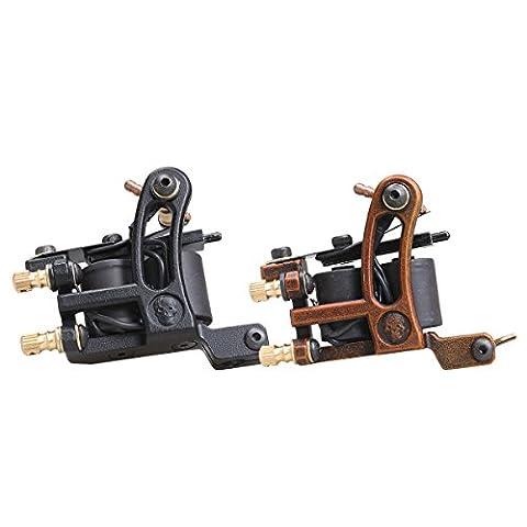 2 Pcs DragonHawk Tattoo Machine Steel Frame Tattoo Gun Liner and Shader WQ4447-1&WQ4447-2