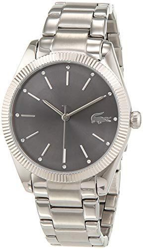 Lacoste Reloj Analógico para Mujer de Cuarzo con Correa en Acero Inoxidable 2001081
