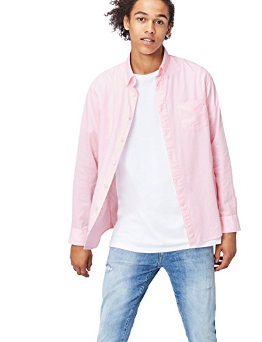 Find camicia a righe regular fit uomo, rosa (pink), x-large