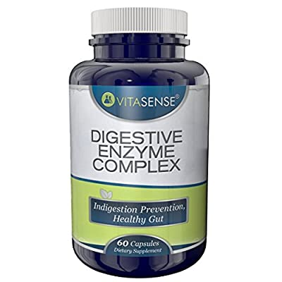 PREMIUM Digestive Enzyme Complex - Indigestion Prevention, Healthy Gut - 60 capsules by TARGARIAN from Targarian