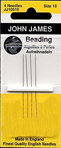 Colonial Needle 4 Count John James Beading Needles, Size 10