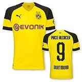 Puma BVB Borussia Dortmund Home Trikot mit Bundesliga Logo 2018 2019 Kinder Paco Alcacer 9 Gr 128