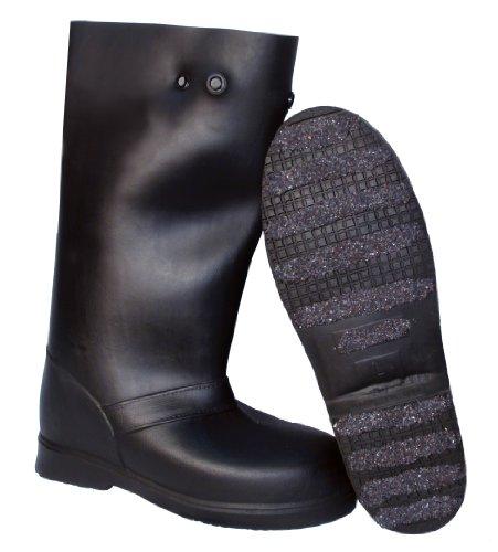 Super Körnung rutschfestem over-the-shoe 43,2cm Gummi overboots, schwarz, M, schwarz, 1 - Steel Toe Overshoe