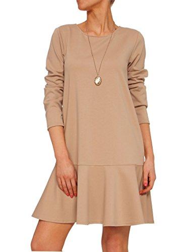 YULIYA BABICH fashion designer -  Vestito  - con orlo a palloncino - Donna RAL1015; Beige