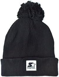 Starter Backboard Bobble Knit Beanie - Black