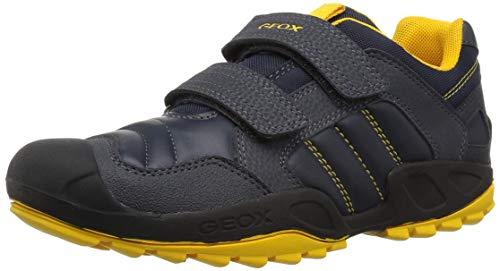 Geox J New Savage Boy A, Zapatillas para Niños, Azul (Navy/Yellow C0657), 36 EU