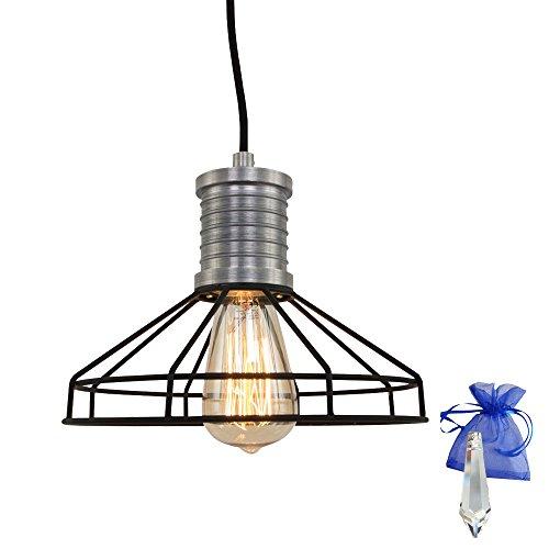 Lampe suspension Noir Lampes Au usine Vintage Design Industriel fil E27 Rétro Industrie Lampe Atelier lampe suspension lampe Cuisine + Cadeau